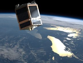 Satellite in Orbit Space Telesat
